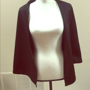 Polyester soft Blazer XL -Black